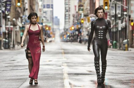 Ada Wong and Alice: with the power of avoiding bullets while standing in wide open spaces.