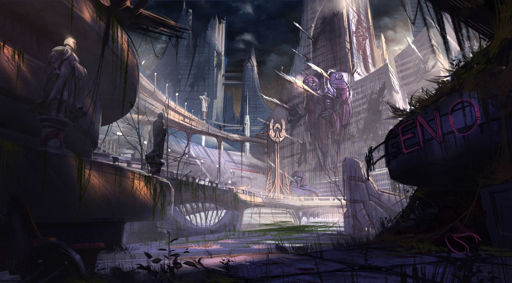 Deadpool Game Concept Art Background 04 Chaos Mechanica